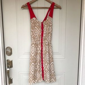 🌸 Charming Charlie aztec cross back dress
